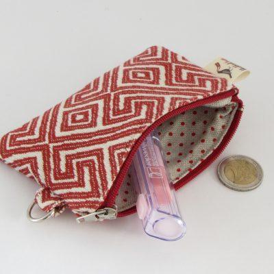 Red and White Coin Purse / Rdečebela Drobižnica