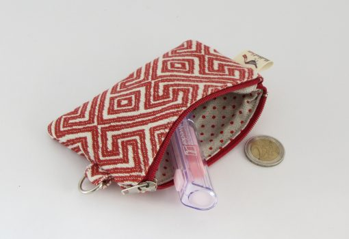 Red and White Coin Purse / Rdečebela Drobižnica