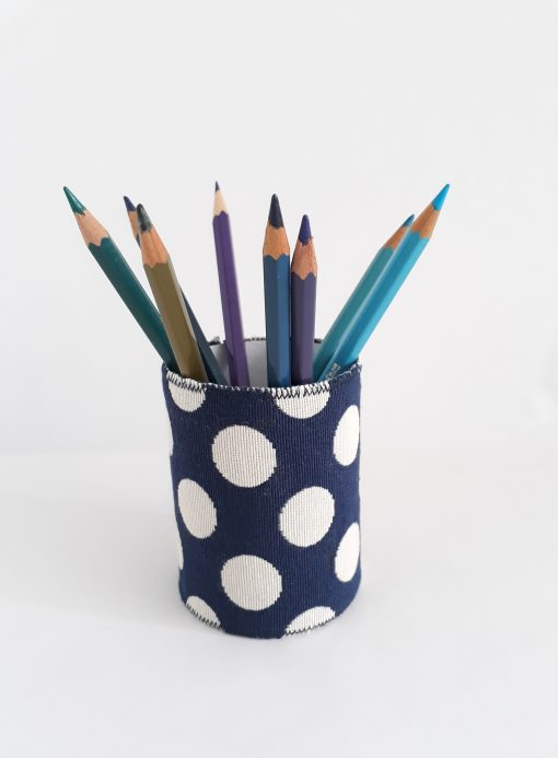 pencil pot with dots
