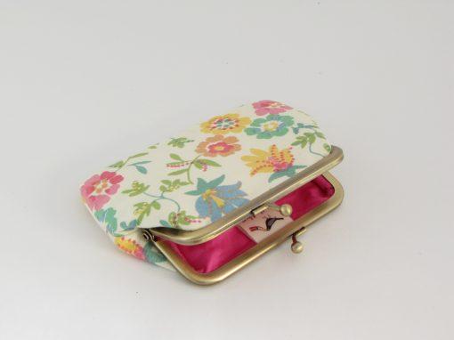 mala denarnica rože / Floral Kisslock Wallet