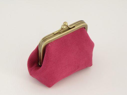 Lila drobižnica z zlatimi pikami / Purple Coin purse with gold dots