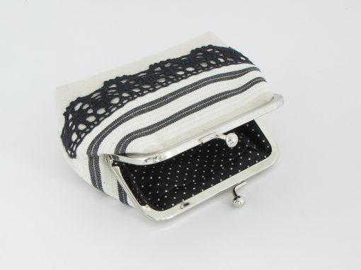 Unikatna drobižnica s čipko / Unique Coin purse with lace