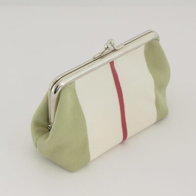 Zelena unikatna torbica / unique green kisslock purse