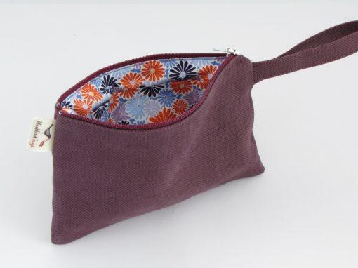 temno lila kozmetična torbica / Dark Purple makeup purse