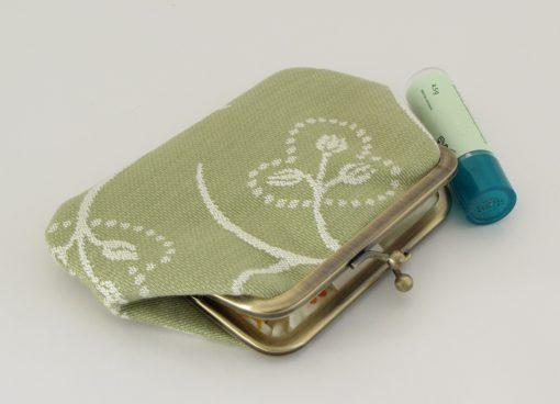 zelena denarnica / green kisslock wallet