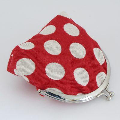 Rdeča denarnica s pikami / Red Polka dot Kisslock Wallet