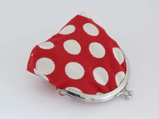Rdeča denarnica s pikami / Red Polka dot Kisslock Wallet