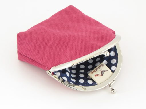 Lila denarnica / Purple Kisslock Wallet
