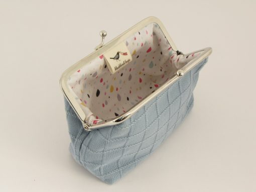 Modra torbica z okvirčkom / Small blue kisslock purse