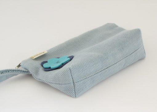 Modra torbica za kozmetiko / Blue Makeup Purse