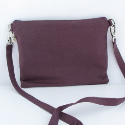 Temno lila torbica / Purple Crossbody Bag