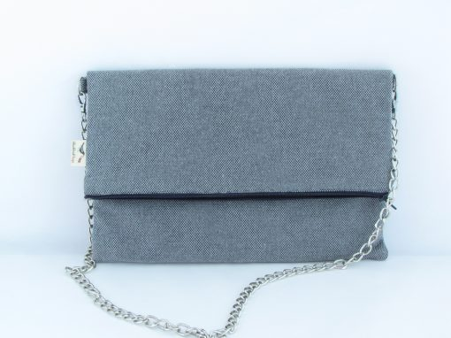 Modra torbica na preklop / Blue Foldover Crossbody Bag
